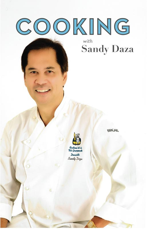 "Chef Sandy Daza's cookbook ""Cooking with Sandy Daza"""