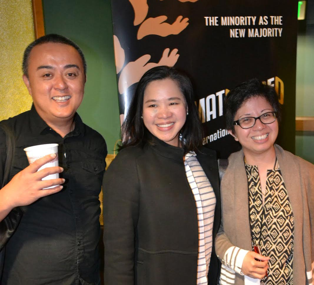 (L-R) Festival Program Manager Eric Pugeda; ABS-CBN International Managing Director for North America Olivia De Jesus; ABS-CBN International Global Head of Corporate Affairs & PR Nerissa Fernandez at the Cinamatografo International Film Festival launch and press conference at the AMC Dine-In Kabuki 8 Theaters in Japantown. (Photo courtesy of Richard Lao)