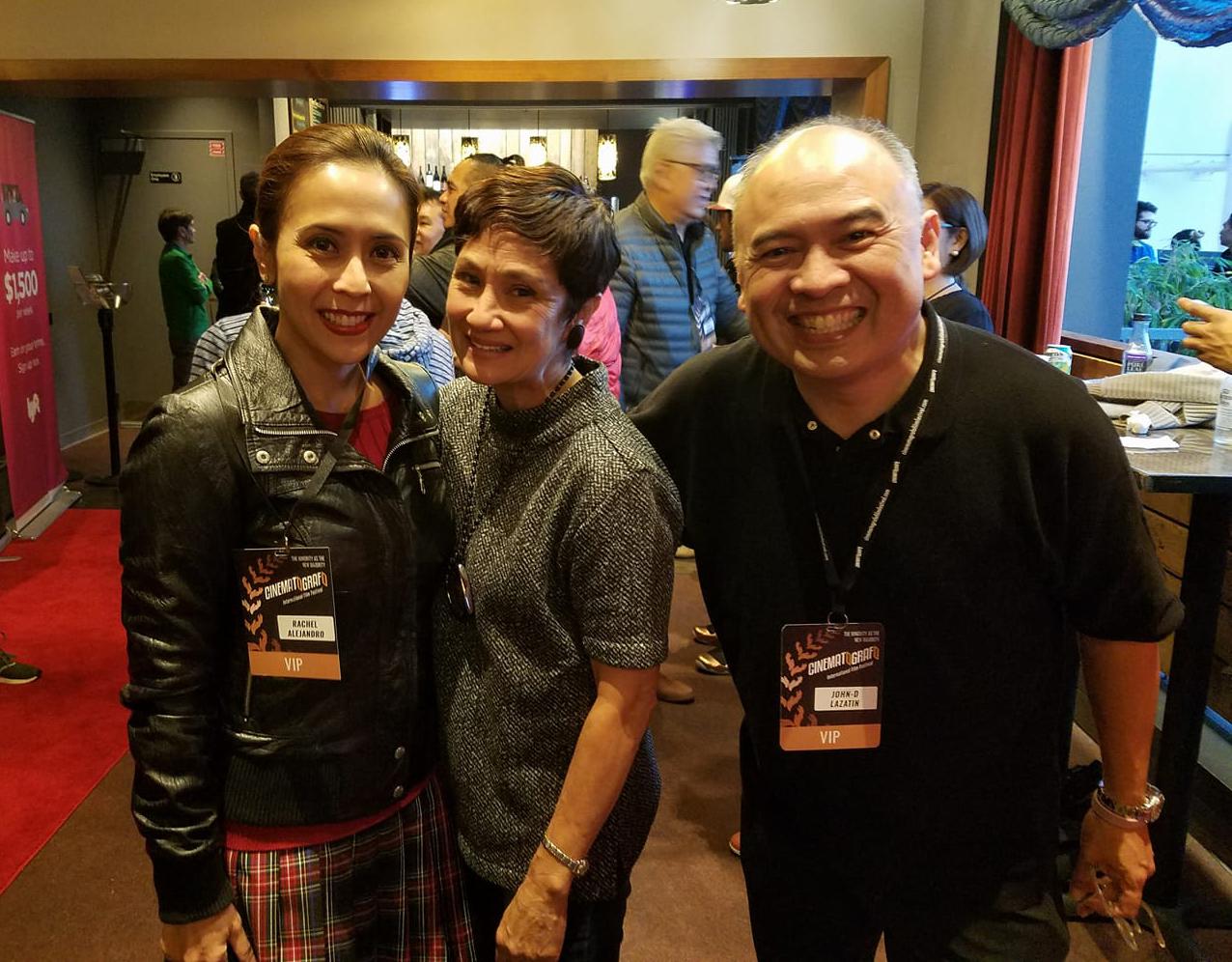 Rachel Alejandro, Jackie Catillejo-Guingona and Cinematografo John-D Lazatin (Photo by Raymond Virata)
