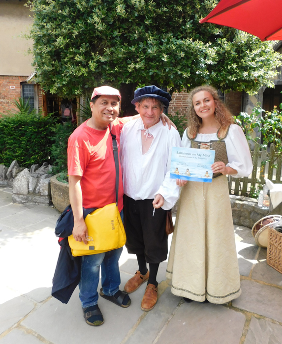 Performers at The Shakespeare Centre in Strafford-upon-Avon deliver Shakespearean lines upon request