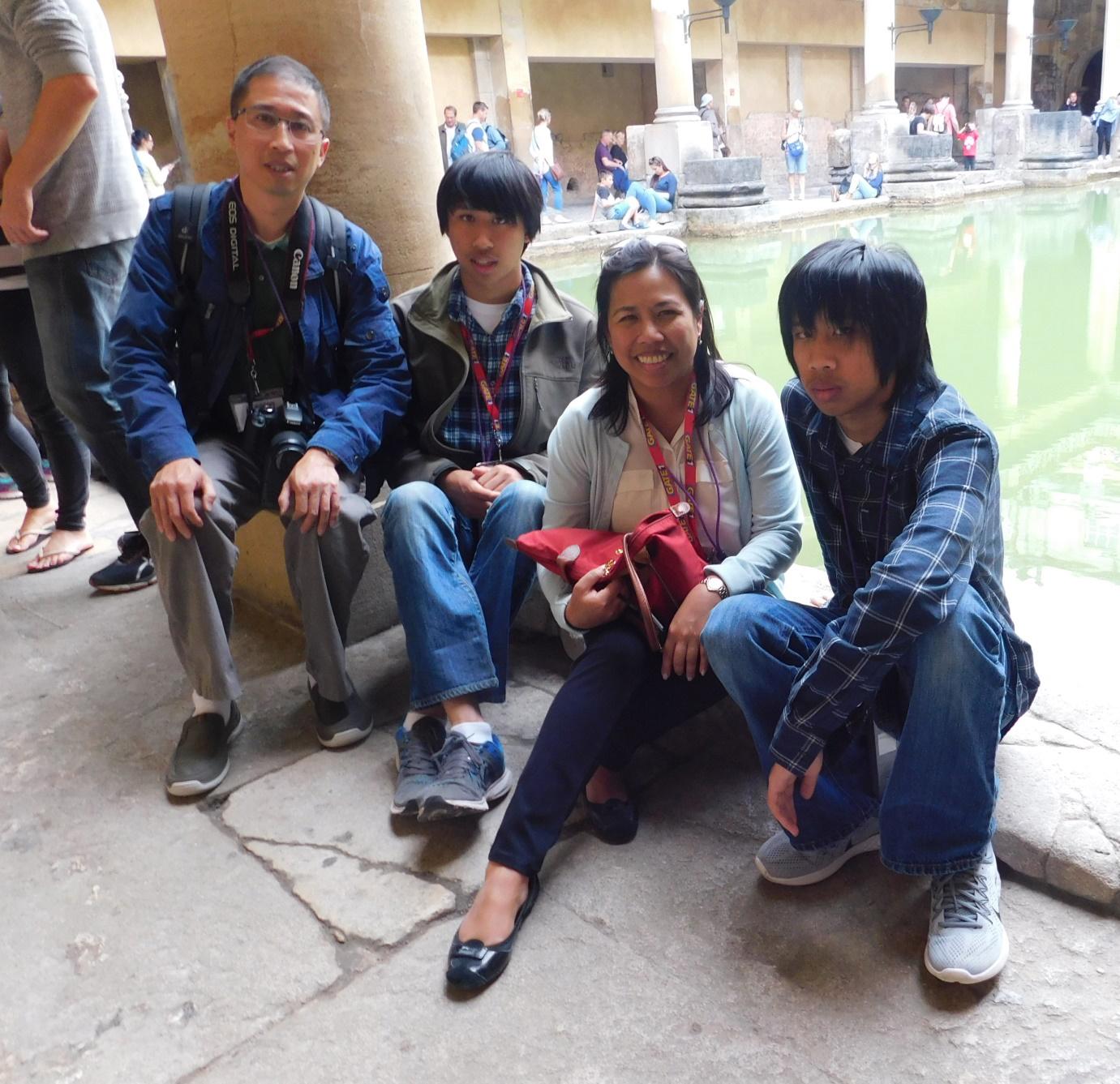 Robert, Ian, Lulu, and Eric Kong