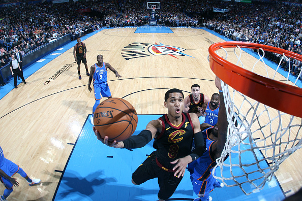 Clarkson drives against the Thunder (Photo courtesy of the Cleveland Cavaliers)