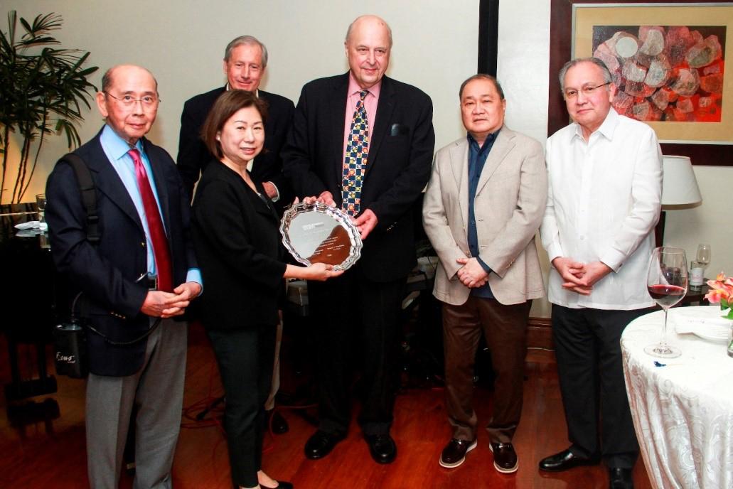 Carlos P Romulo Award Presented to Tessie Sy-Coson, February 2018