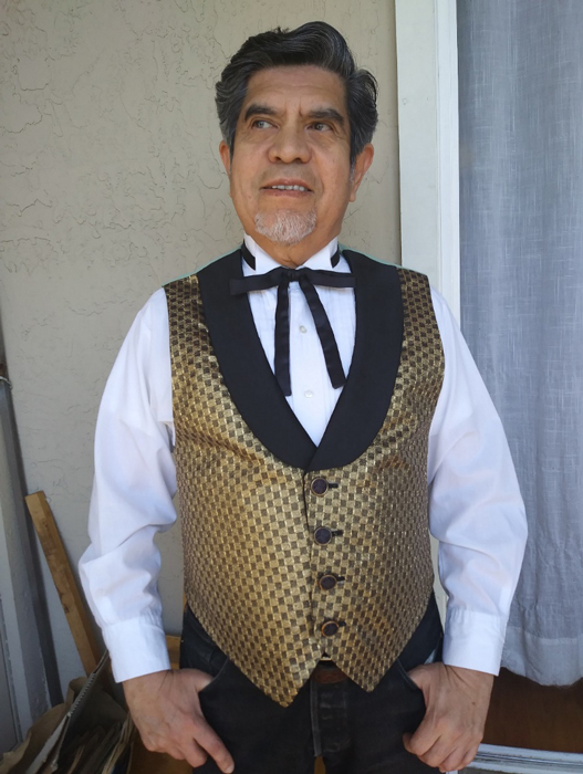 """Voila! The author and vest at 70! """"Place your bets, gentlemen . . ."""