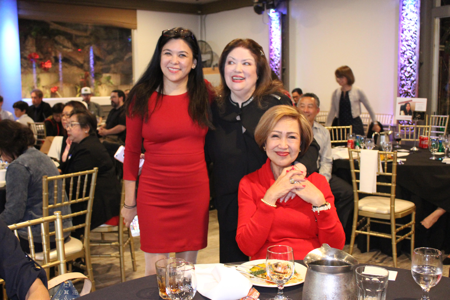 Candidate with mother, Marilita Osmeña, and campaign volunteer Gloria Tanner. (Photo by Vivian Abellana)
