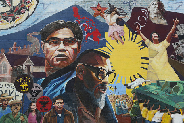 Filipinos have a long and rich history in the United States, which is depicted through this mural located in Historic Filipinotown (Source: Kenny Chang/Flickr)