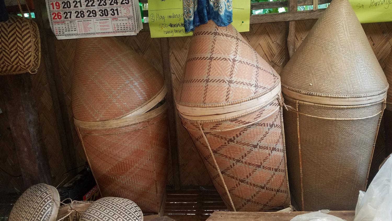 Pala'wan storage baskets. (Photo by Jill Stanton)