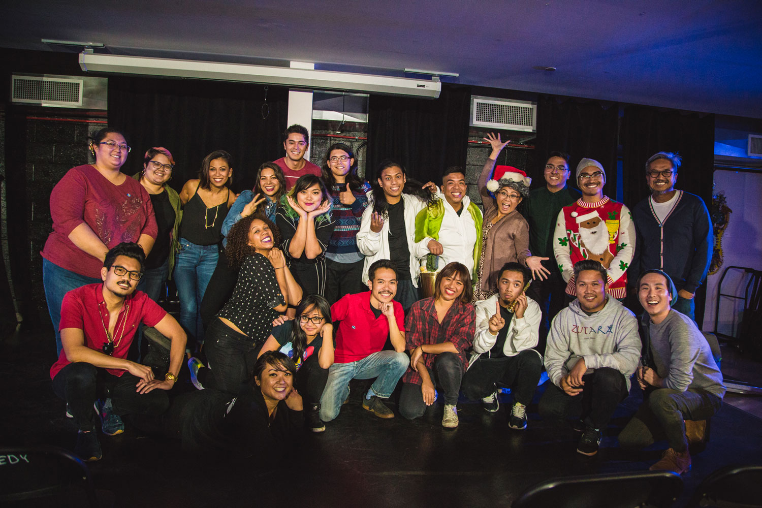 The cast of Filipino AF Pasko show, December 8, 2017