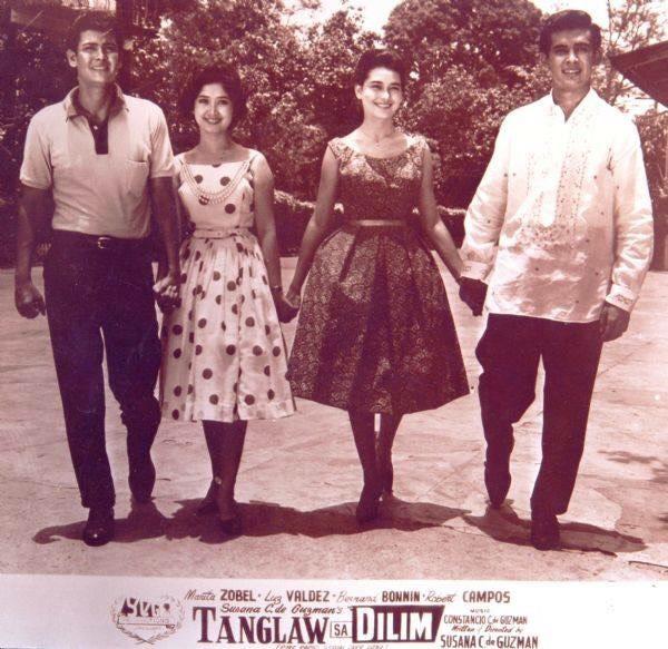 Bernard Bonnin, Luz Valdez, Marita Zobel, and Robert Campos (Luz's late husband from whom she was estranged)