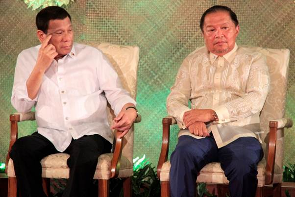 "President Duterte and CFO Secretary Justice Francisco ""Nick"" Acosta"