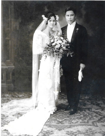 Having finished an Associate of Arts degree majoring in English at the University of the Philippines, Esther Tempongko married her mentor, Dr. Vivencio C. Alcantara of Capiz in 1925. They were later to have three children—Erlinda, Vilma and Aurora.