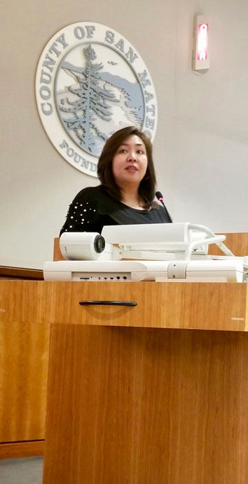 Opening the San Mateo County Board of Chambers Meeting on January 29, 2019