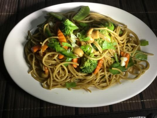 A Vegan, Spaghetti Mien (Photo by Rene Astudillo)