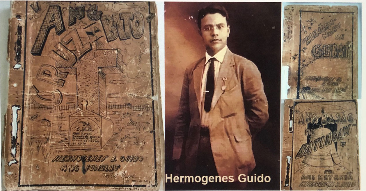 Three of the original manuscripts of Hermógenes B. Guido's novels (1930s) (Courtesy of Profetíza Guido Manijayme and Deborah Guido Ruiz Wall)