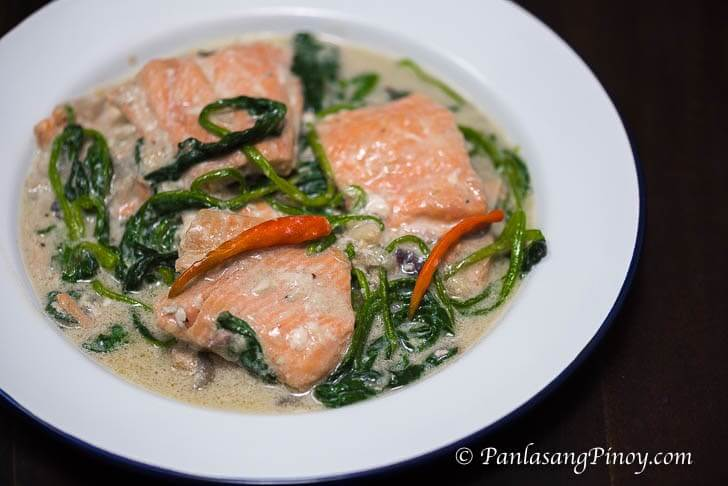 The Happy Home Cook: Ginataang Salmon (Salmon in Coconut