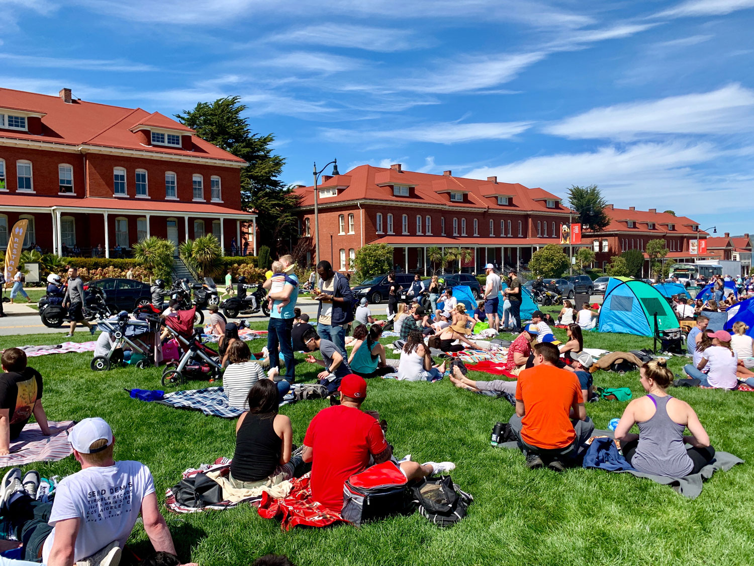 The crowd at the opening of Presidio Picnic (Photo and icon photo courtesy of CKO+)