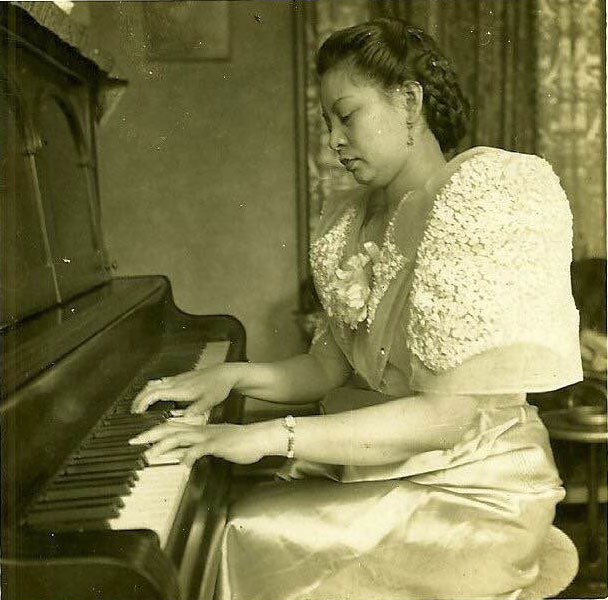 Gloria Lanot after her M.A., major in Piano