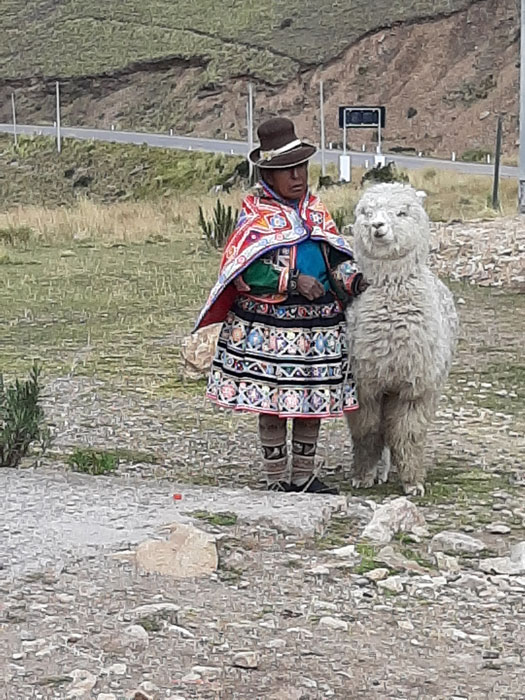 A woman and her alpaca (Photo by Bella Bonner)