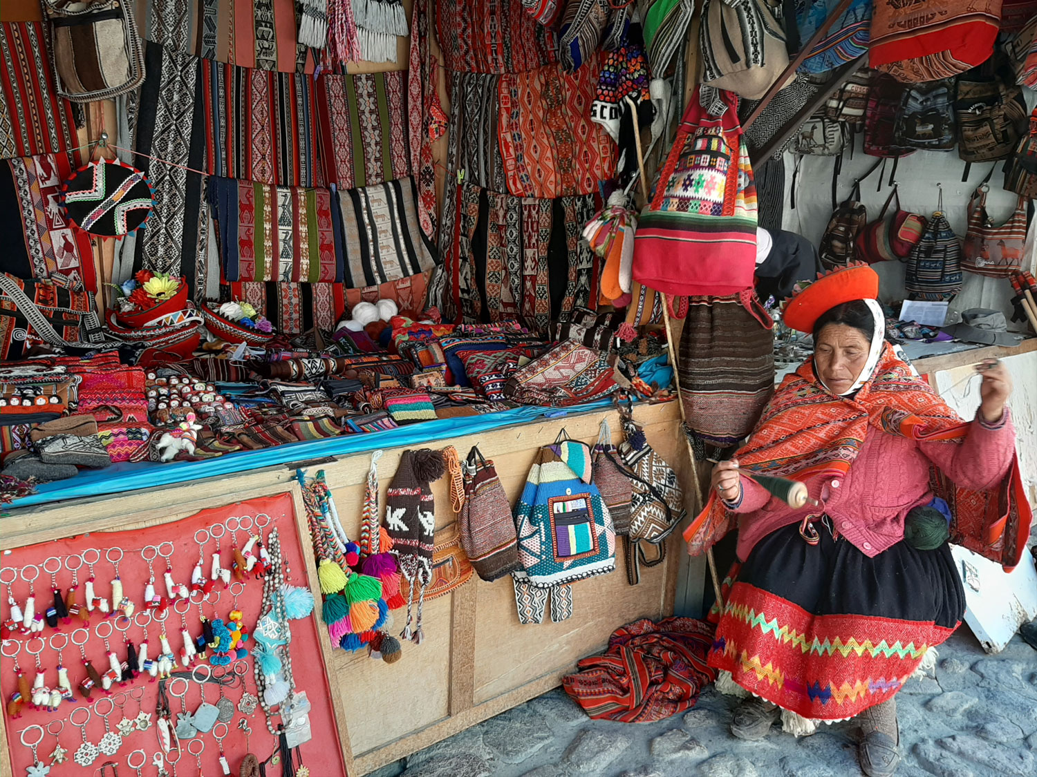 A vendor in Sacred Valley (Photo by Bella Bonner)