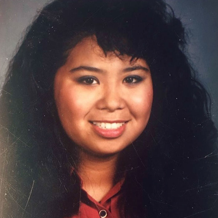 An old photo of the late Dawn Mabalon at Edison High School, where she was in the Class of 1990. I stole this from her Instagram.