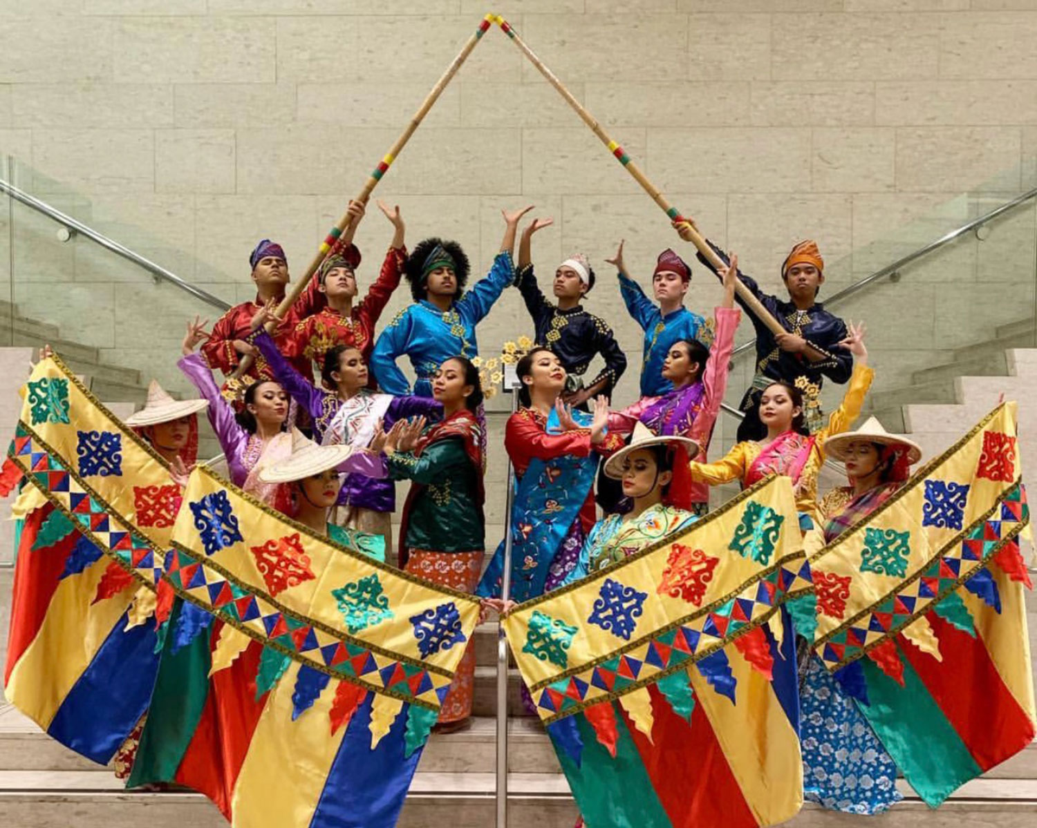 A photo of Little Manila Dance Collective after a beautiful performance at the University of the Pacific.