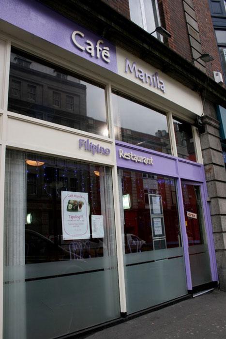 Cafe Manila, a Filipino restaurant in Dublin's City Centre in 2008. (Photo by Diane Sabenacio Nititham)