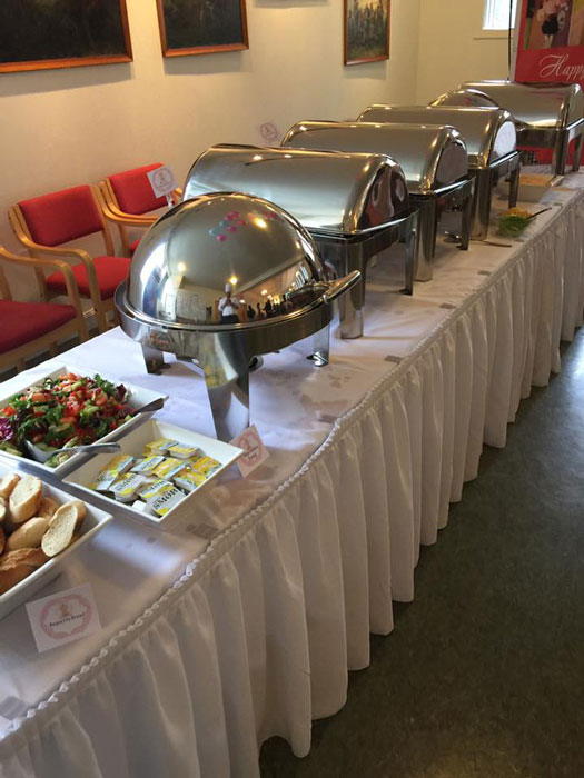 Landayan and Riesenbeck imported professional-grade catering equipment like chafing dishes and table skirts from the US to increase their presentation level.