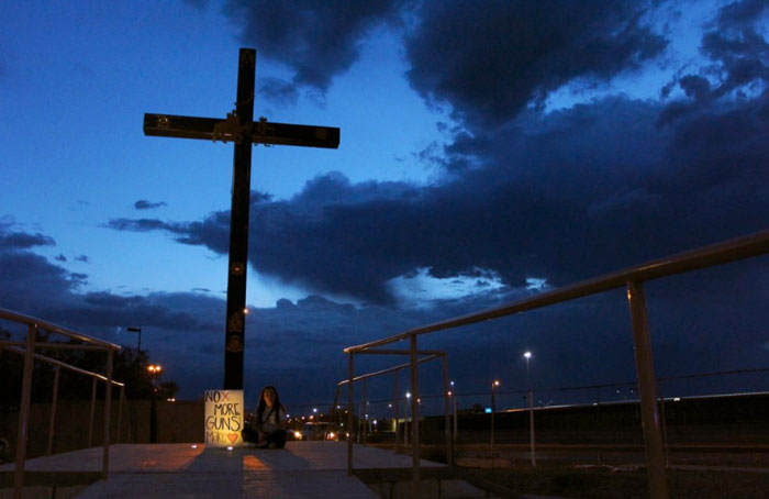 Vigil in El Paso (Photo by Herika Martinez/Getty Images)
