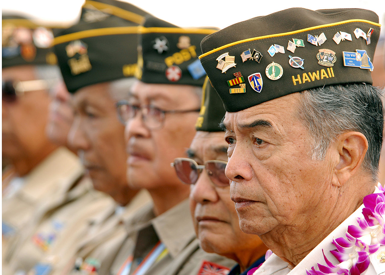 "Filipino American veterans attend ""Araw ng Kagitingan"" ceremonies at the National Memorial Cemetery of the Pacific (Photo by Mass Communication Specialist 1st Class Michael Hight)"