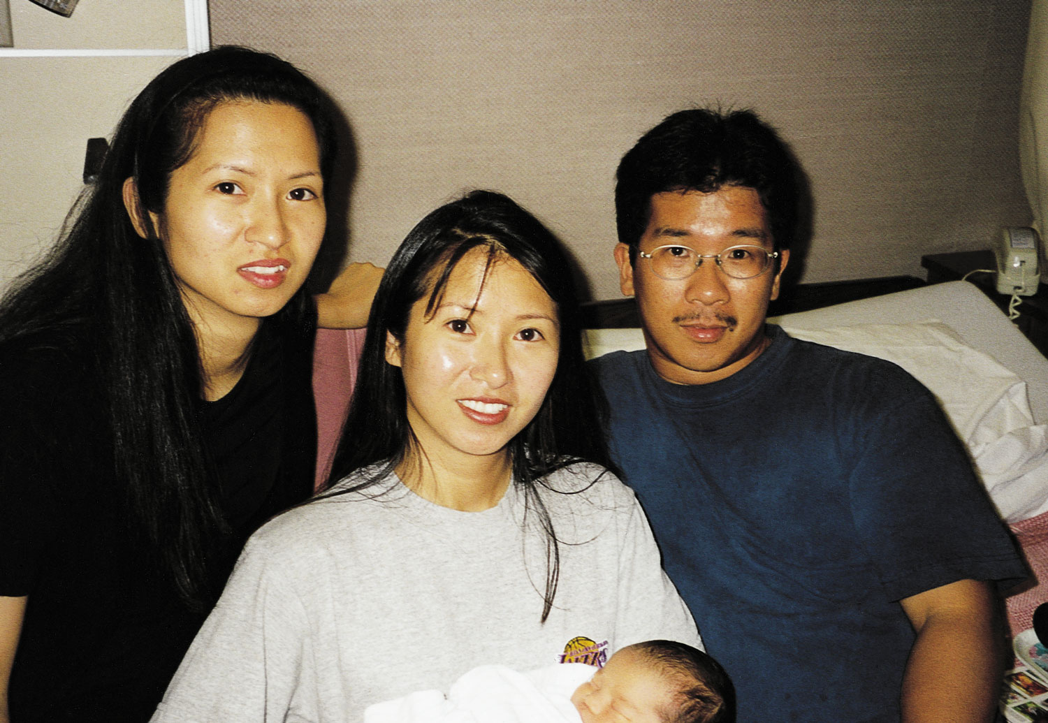 This last photo taken of Joseph (right) shows him with sisters Carmina and Raquel and newborn nephew Gabriel.