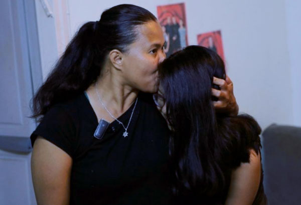 Ramela and Sivan Noel, along with some 600 families, now facing deportation from Israel (Source: AFP)