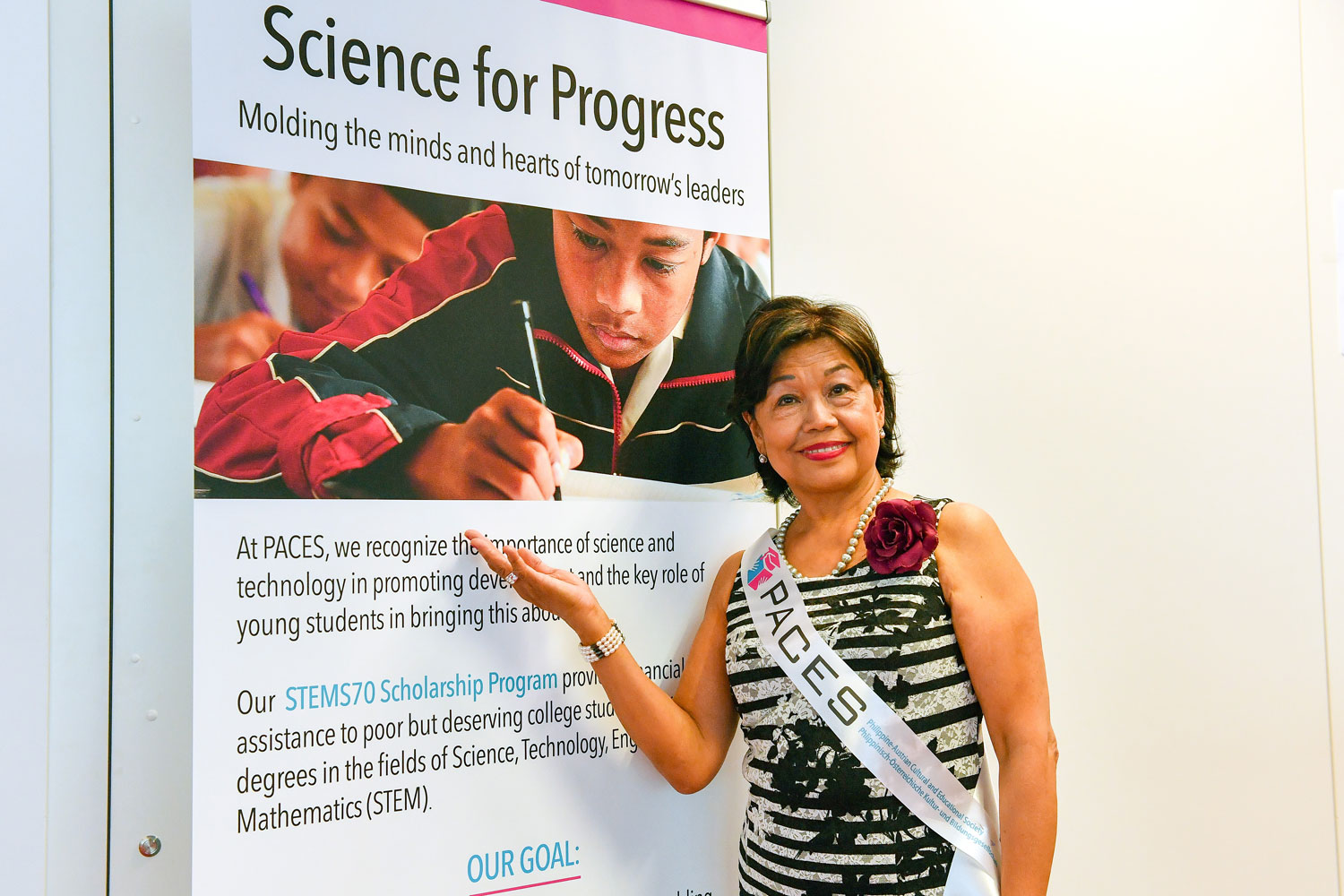 Malou Reininger heads PACES, which aims to support STEM graduates in the Philippines.