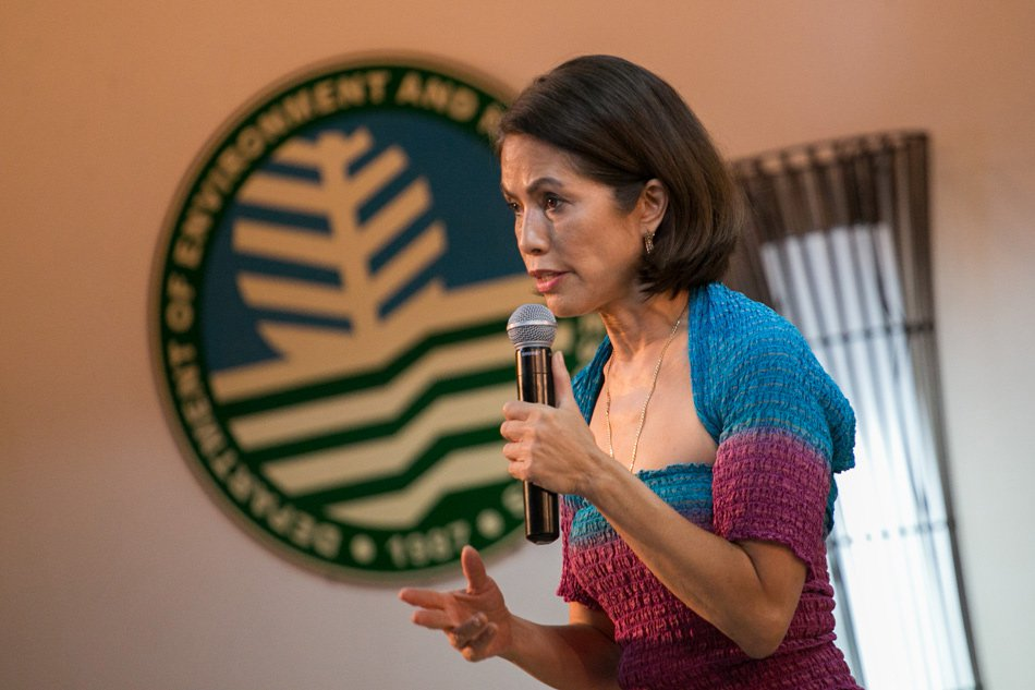 Gina Lopez, when she was Department of Environment and Natural Resources Secretary (Source: ABS-CBN)