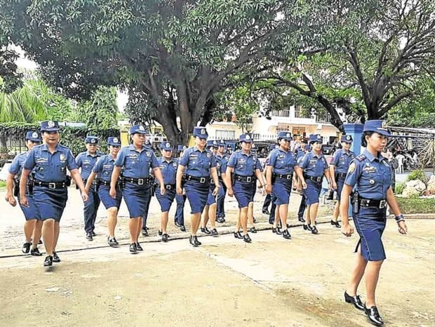 Women police officers in the municipality of Maria in Siquijor (Photo from Pro7PNP/facebook)