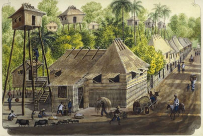Plate #19 –  Casa de un Pueblo en Cagayan  (A Typical House in a Cagayan Town) .
