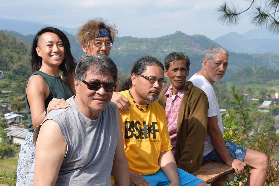 Back : Lauren Benetua, Tony Remington.  Front : Luis (Lou) Syquia, Tony Robles, Manong Sapi Bawer, Oscar Penaranda (Photo used with permission of Tony Remington)