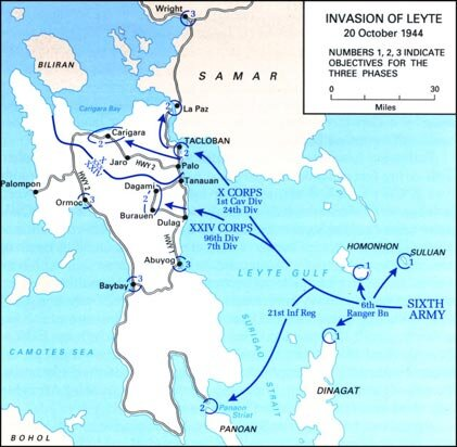 The invasion of Leyte, Code Name KING 2, October 20, 1944