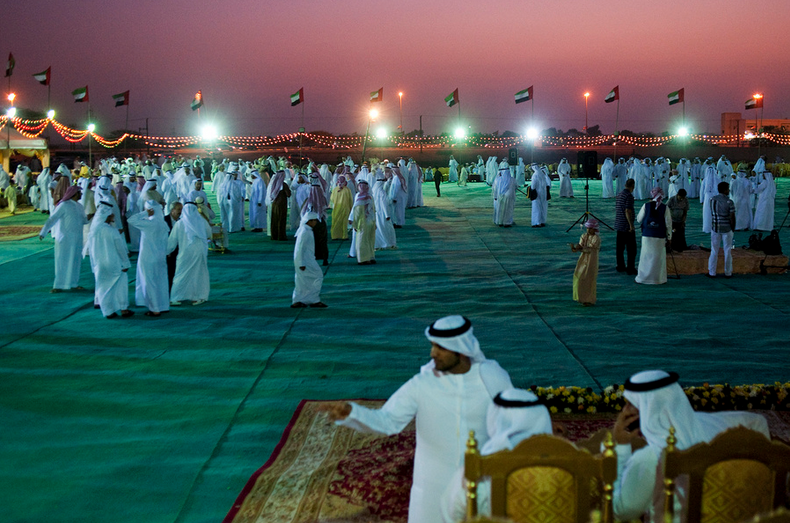 Al DHAID, UAE. January 13, 2012 – A mass wedding of 68 bridegrooms from the Central Region of the emirate of Sharjah.