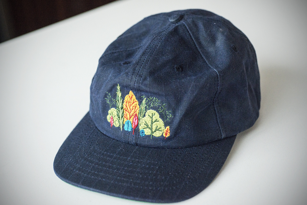 The Mosley Foliage 6-Panel, made in Canada out of waxed gridlock cotton canvas
