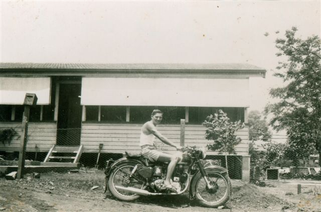 Herman Whitehead - A late 50's 350 Royal Enfield. Taken in Mount Isa