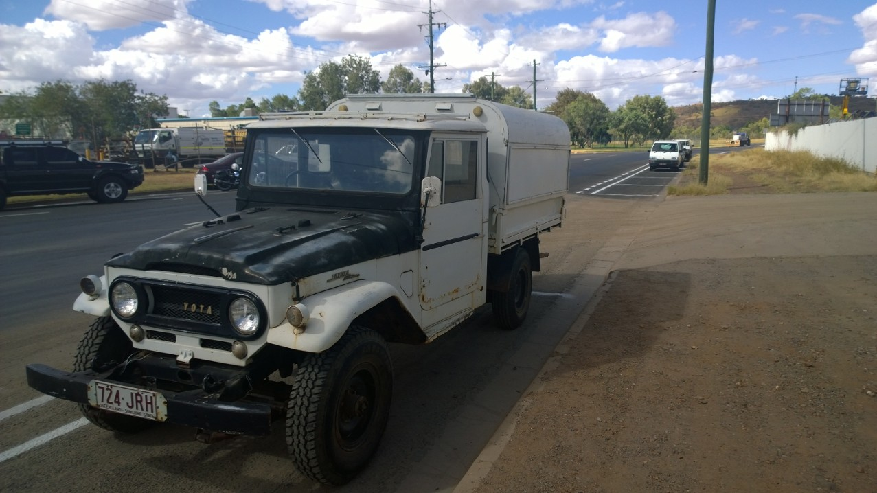 Len's 66 Land Cruiser - Old things rescuing old things