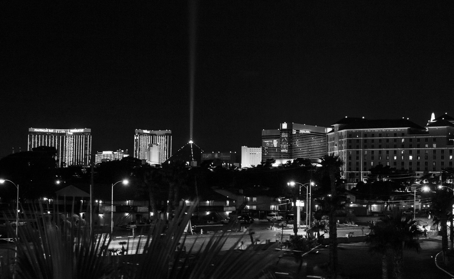 Las Vegas Strip from the parking structure of The Hard Rock Hotel