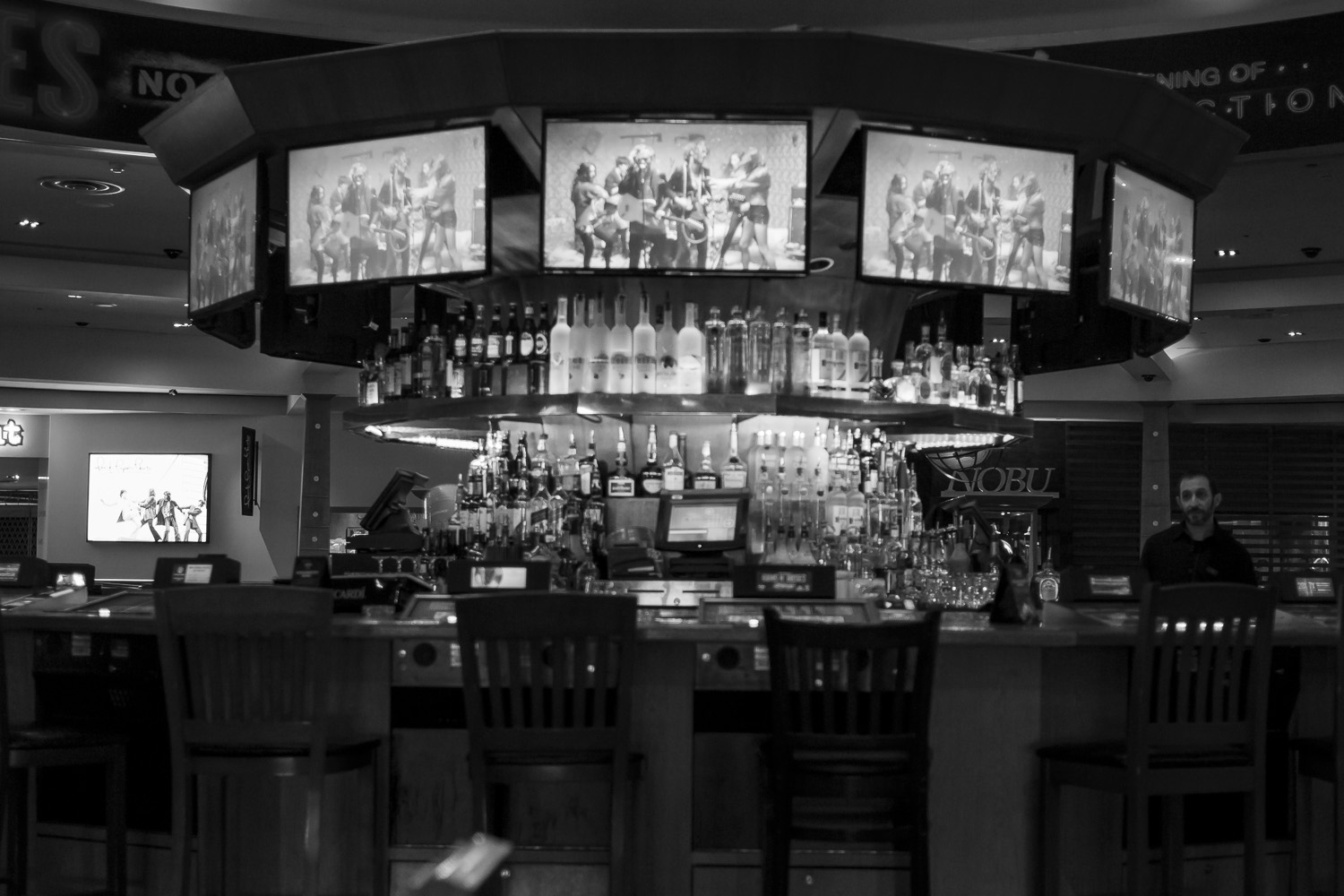 One of the bars located on the casino floor