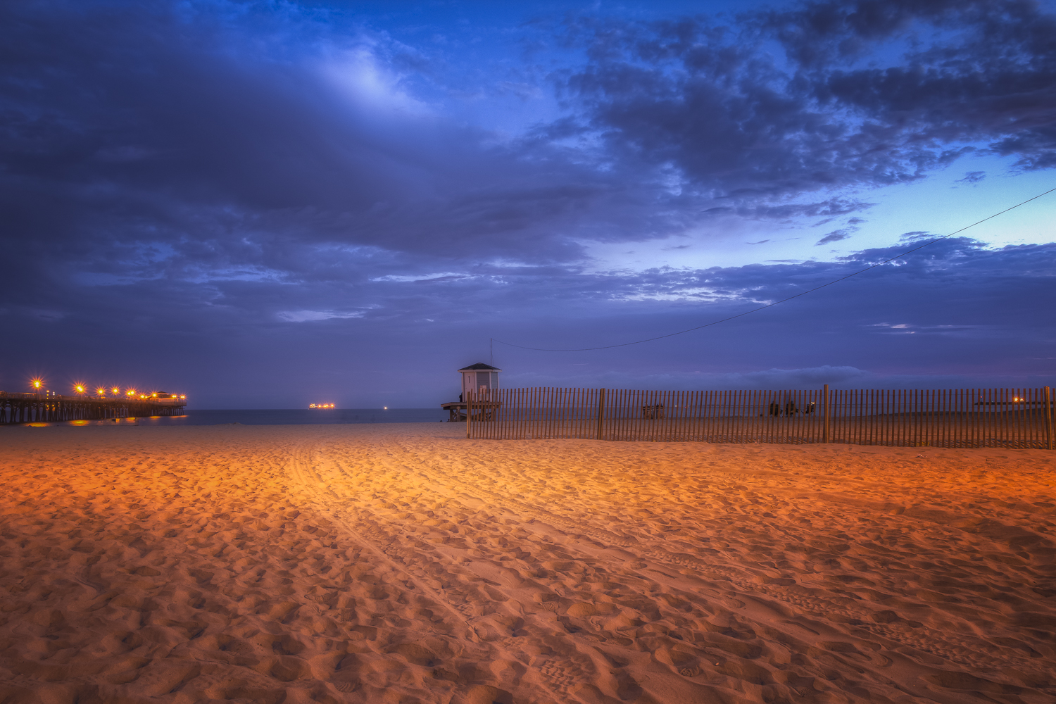 The blue clouds at Seal Beach