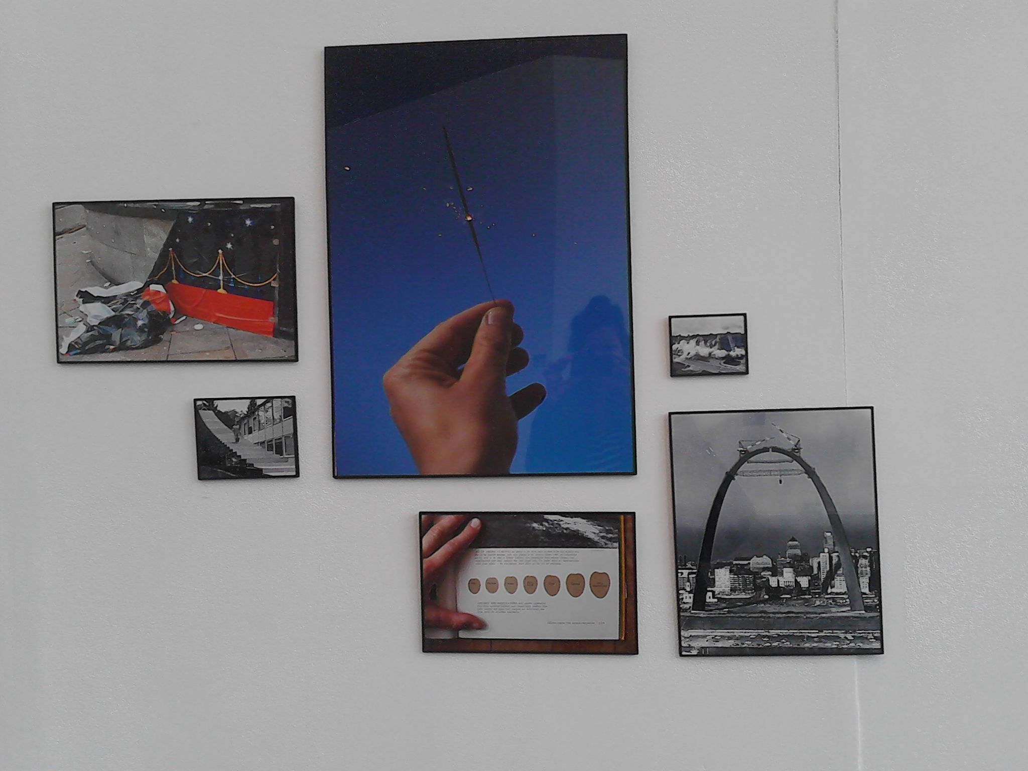 Installation view of 'Image Library', collection of found and artist's photographs (2013 - ongoing)George Eksts. Photo: Sacha Waldron. Image courtesy of the artist the UH Gallery