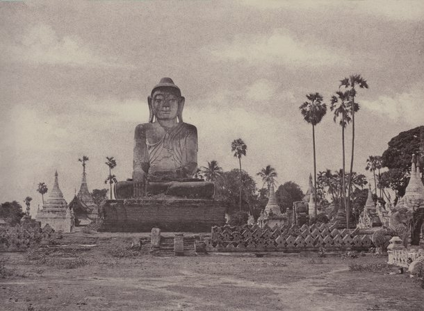 Amerapoora Colossal Statue of Gautama Close to the North End of the Wooden Bridge. September 1 – October 21, 1855. Linnaeus Tripe