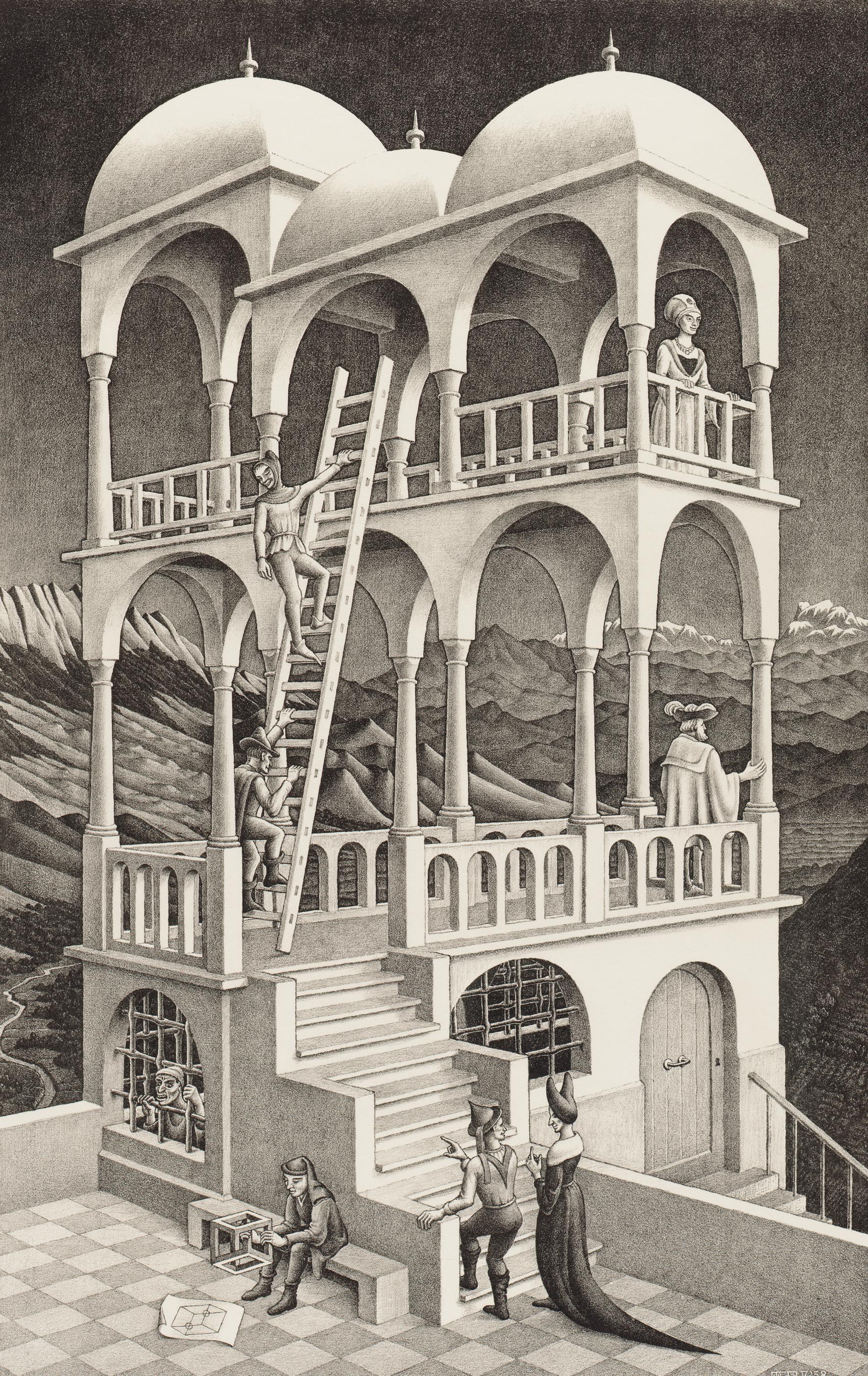 Belvedere. M.C. Escher (1958)