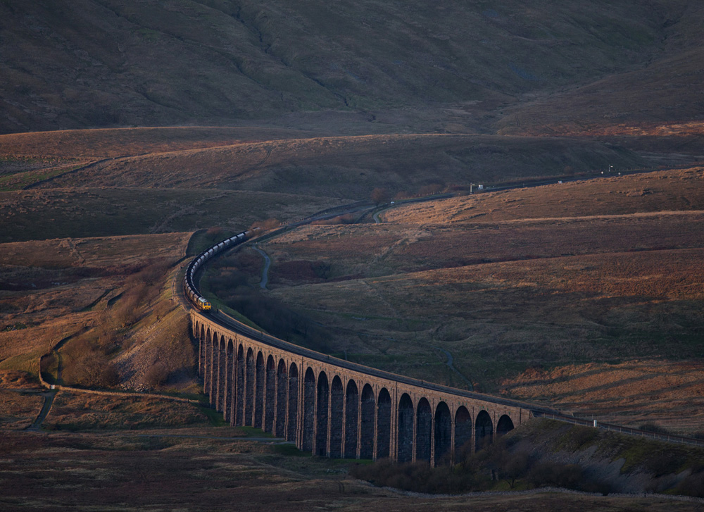 Robert France - Freightliner Coal Train, Ribblehead Viaduct, North Yorkshire, England