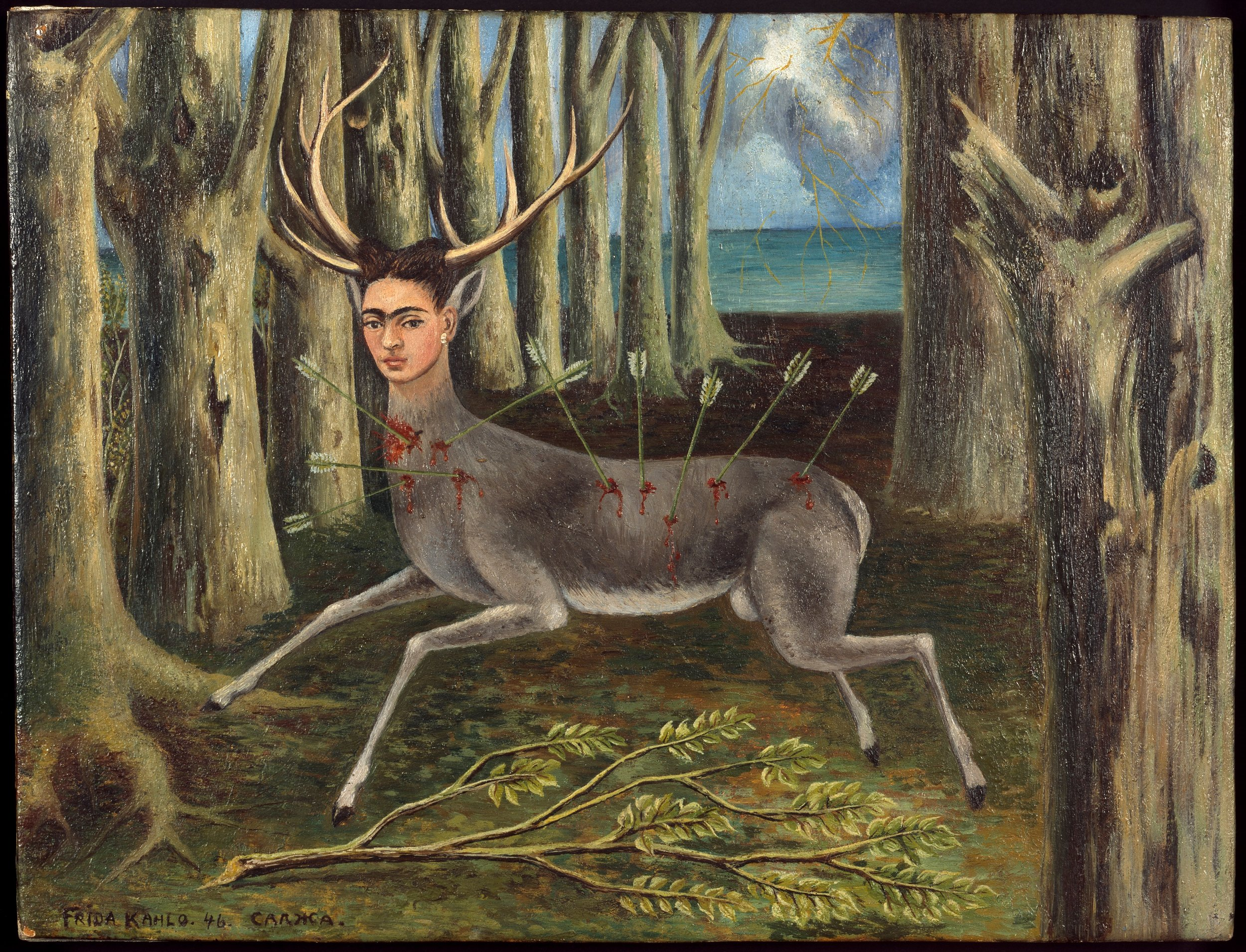 Frida Kahlo Le Venadita (little deer), 1946 Private Collection Photo: Nathan Keay, © MCA Chicago