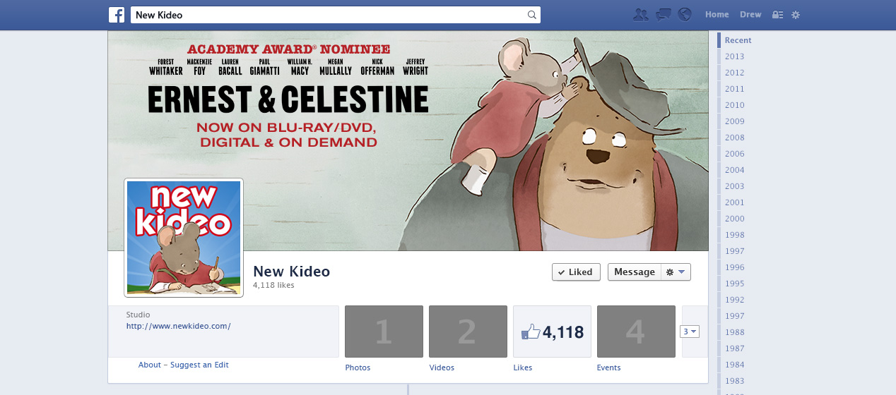 Facebook advertising assets for the New Kideo brand page.